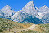 Mountain biker on south end of River Road along Snake River in Wyoming's Grand Teton NP - 1 - 72 ppi