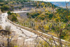 Texas - Cyclist on TX 290 overlooking Fort Lancaster State Historic Site - C8b-'08-1849 - 72 ppi