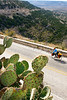 Texas - Cyclist on TX 290 overlooking Fort Lancaster State Historic Site - C8b-'08-1819 - 72 ppi