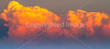 Cumulus clouds at sunset near Del Rio, Texas - C3-0069 - 72 ppi