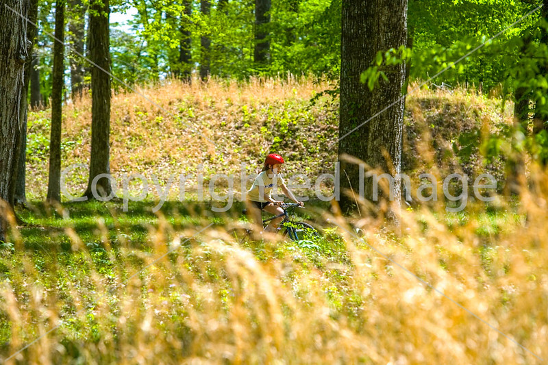 B tn shiloh - Biker(s) at Indian Mounds at Shiloh National Military Park in Tennessee - d6__0148 - 300 dpi - 72 ppi