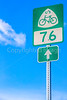 US Bicycle Route 76 sign - C1-0004 - 72 ppi