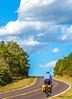 Touring cyclist on US Bike Rte 76-TransAmerica Trail near Centerville, MO - C1-0321 - 72 ppi-3