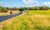 Cyclists on US 76 Bike Route, TransAm, & MRT Trail near St  Mary's, Missouri - C3-0024 - 72 ppi-5