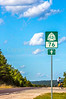 Touring cyclist on US Bike Rte 76-TransAmerica Trail near Centerville, MO - C1-0381 - 72 ppi