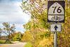 Bike Route 76 sign near Cyrus McCormick's Farm; Raphine, Virginia - C3-3 - 72 ppi
