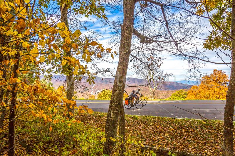 TransAm & Bike Route 76 riders on Blue Ridge Parkway, VA - C3-0507 - 72 ppi
