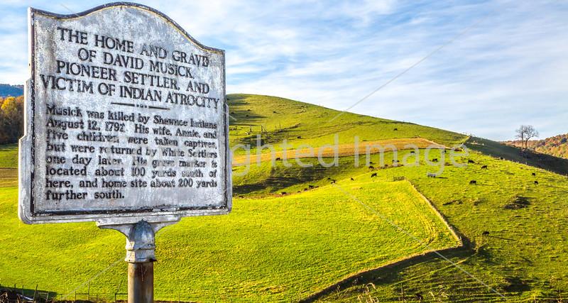 Historic marker along Bike Route 76 & TransAm near Honaker, VA - C3-0251 - 72 ppi