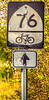 Bike Route 76 sign near Cyrus McCormick's Farm; Raphine, Virginia - C3- - 72 ppi