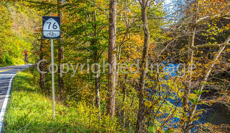 Day rider on Bike Route 76 near Haysi, Virginia - C3- - 72 ppi