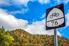 Bike Route 76 sign at Lookout, Kentucky - C3-0046 - 72 ppi
