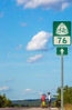 Touring cyclists on US Bike Rte 76-TransAmerica Trail near Centerville, MO - C1-0398 - 72 ppi