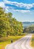 Touring cyclists on US Bike Rte 76-TransAmerica Trail near Centerville, MO - C1-0300 - 72 ppi-2