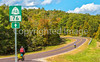 Touring cyclists on US Bike Rte 76-TransAmerica Trail near Centerville, MO - C1-2 - 72 ppi-5