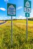 TransAm riders on US 76 Bike Route--TransAm--MRT Trail near St  Mary's, Missouri - C2- - 72 ppi