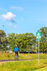 Day riders on US 76 Bike Route--TransAm near St  Mary's, Missouri - C1-0008 - 72 ppi