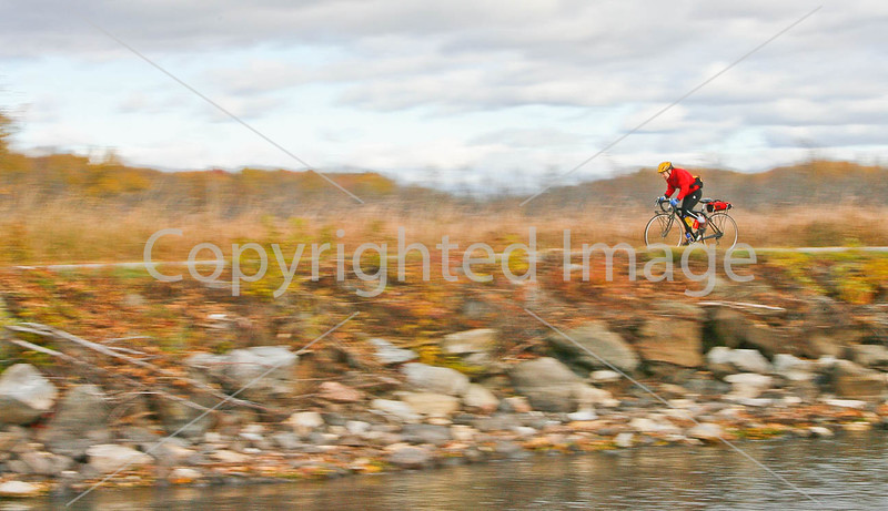 Cyclist at St  Albans Bay State Park, Vermont-0052 - 72 ppi