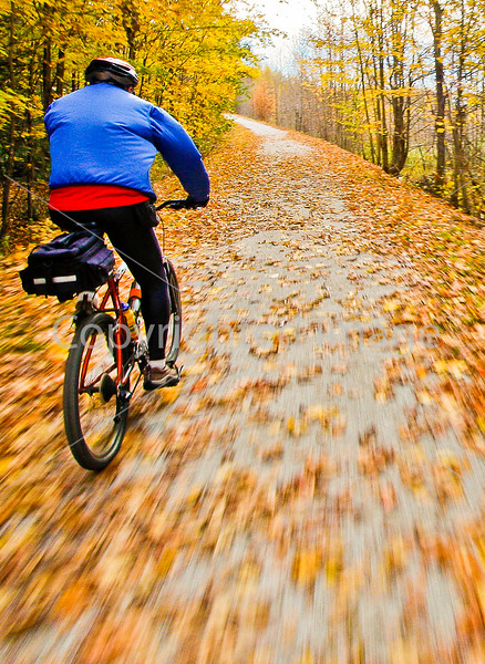 Cyclist(s) on Vermont's Missisquoi Valley Rail Trail - 2 -0427 - 72 ppi-4