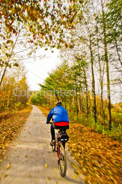 Cyclist(s) on Vermont's Missisquoi Valley Rail Trail - 2 -0390 - 72 ppi