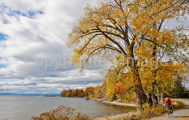 Cyclist -  Kill Kare State Park on St  Albans Bay, Vermont-C2--0160 - 72 ppi