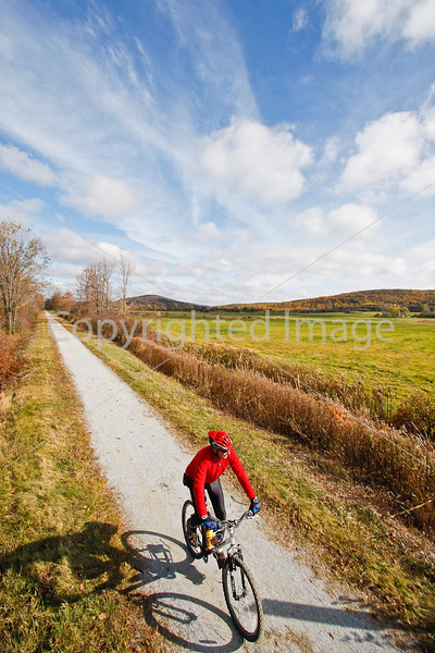 Cyclist(s) on Vermont's Missisquoi Valley Rail Trail-0155 - 72 ppi