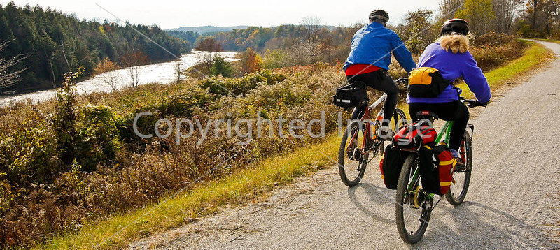 Cyclist(s) on Vermont's Missisquoi Valley Rail Trail - 2 -0294 - 72 ppi