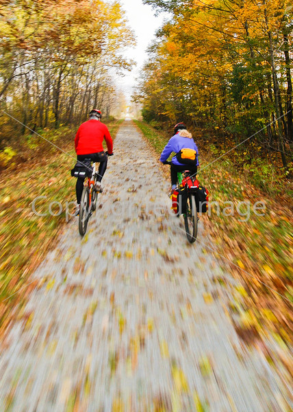 Cyclist(s) on Vermont's Missisquoi Valley Rail Trail-0045 - 72 ppi