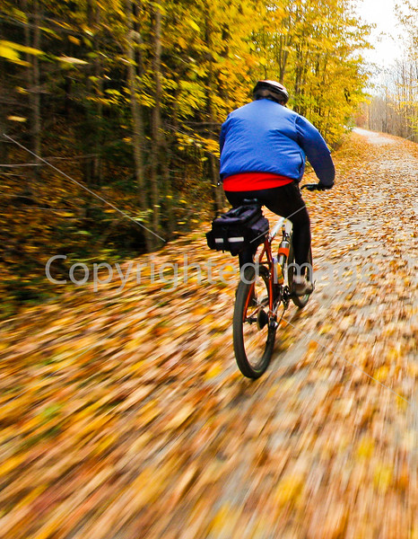 Cyclist(s) on Vermont's Missisquoi Valley Rail Trail - 2 -0423 - 72 ppi-2