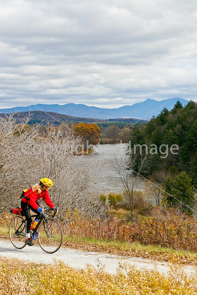 Biker on Confederate bank robbers' trail north of Enosburg Falls, VT-C3--0055 - 72 ppi