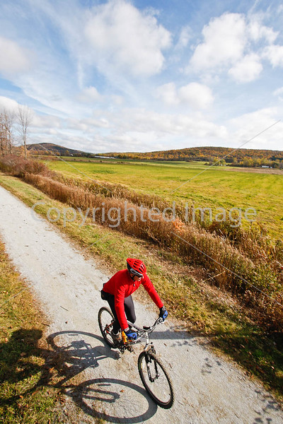 Cyclist(s) on Vermont's Missisquoi Valley Rail Trail-0156 - 72 ppi