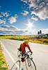 Biker on Confederate bank robbers' trail north of Enosburg Falls, VT-C2--0351 - 72 ppi