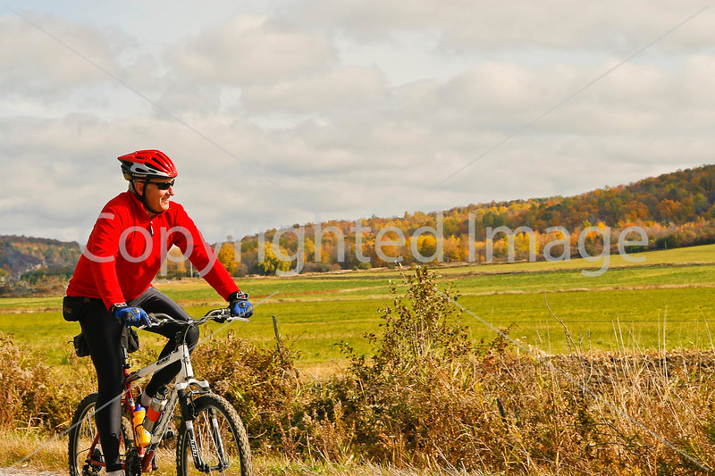 Cyclist(s) on Vermont's Missisquoi Valley Rail Trail - 3 - - 72 ppi