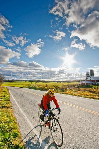 Biker on Confederate bank robbers' trail north of Enosburg Falls, VT-C2--0350 - 72 ppi