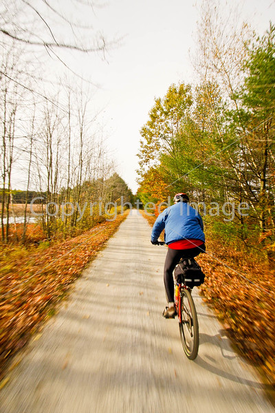 Cyclist(s) on Vermont's Missisquoi Valley Rail Trail - 2 -0379 - 72 ppi