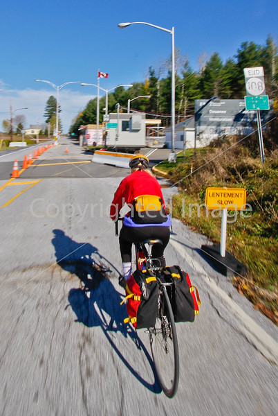 Biker closing in on Vermont-Canadian border south of Frelighsburg, Quebec-C2--0044 - 72 ppi