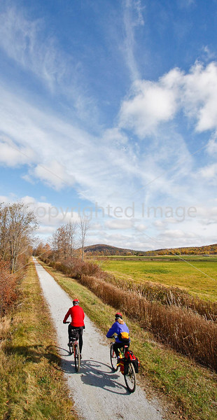 Cyclist(s) on Vermont's Missisquoi Valley Rail Trail- - 72 ppi-8