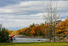 Cyclist at Kill Kare State Park on St  Albans Bay, Vermont-0168 - 72 ppi-2