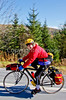 Biker nearing Frelighsburg, Canada, on ride from East Franklin, Vermont-C2--0079 - 72 ppi