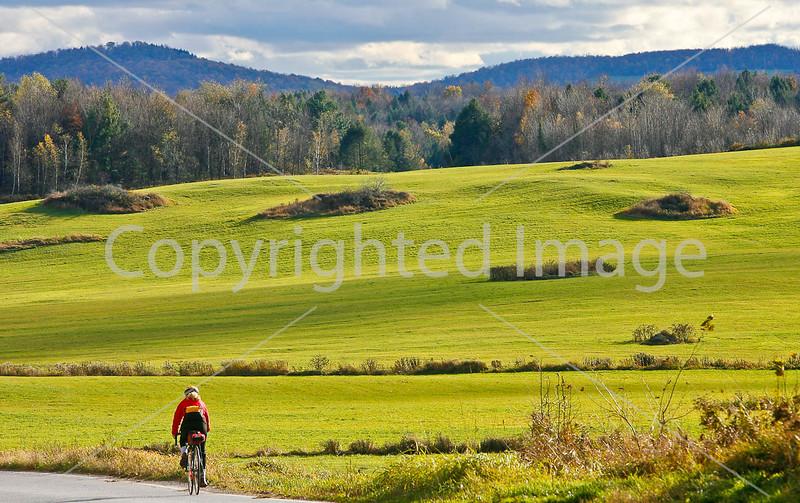 Biker on Confederate bank robbers' trail north of Enosburg Falls, VT-0317 - 72 ppi