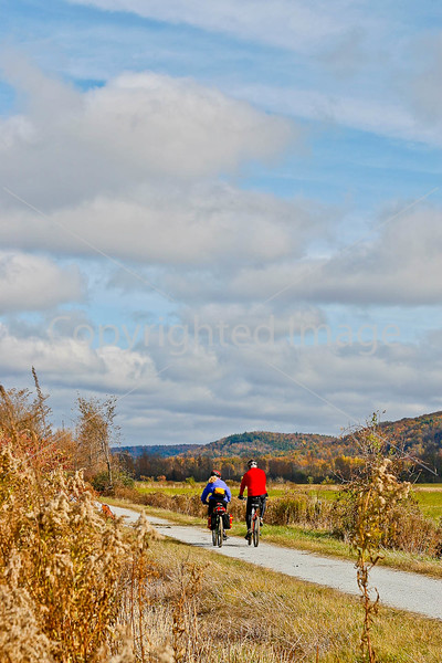 Cyclist(s) on Vermont's Missisquoi Valley Rail Trail - 3 -0035 - 72 ppi