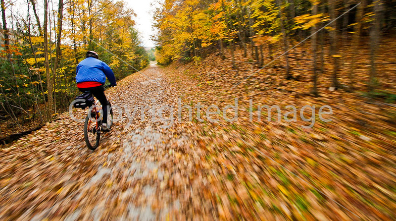 Cyclist(s) on Vermont's Missisquoi Valley Rail Trail - 2 -0403 - 72 ppi-3
