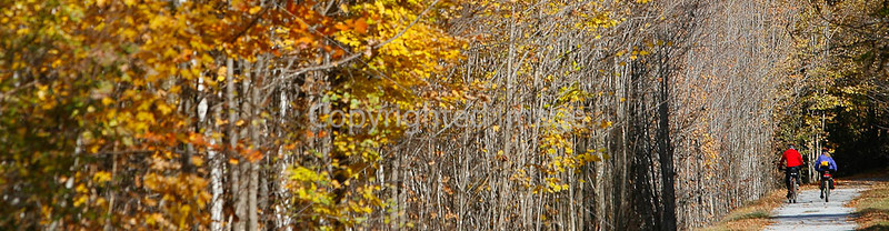 Cyclist(s) on Vermont's Missisquoi Valley Rail Trail-0035 - 72 ppi