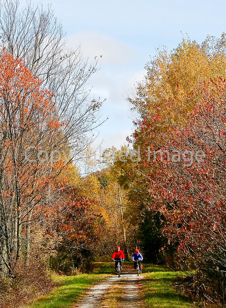 Cyclist(s) on Vermont's Missisquoi Valley Rail Trail - 3 -0057 - 72 ppi