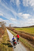 Cyclist(s) on Vermont's Missisquoi Valley Rail Trail-0118 - 72 ppi