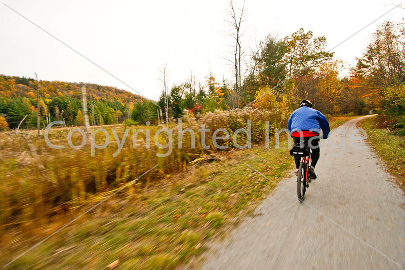 Cyclist(s) on Vermont's Missisquoi Valley Rail Trail - 2 -0412 - 72 ppi