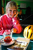 Biker at breakfast in Enosburg Falls, Vermont-C2--0020 - 72 ppi