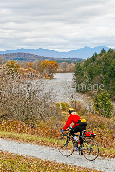 Biker on Confederate bank robbers' trail north of Enosburg Falls, VT-C3--0044 - 72 ppi