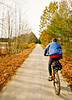 Cyclist(s) on Vermont's Missisquoi Valley Rail Trail - 2 -0379 - 72 ppi-2