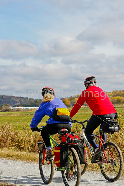 Cyclist(s) on Vermont's Missisquoi Valley Rail Trail - 3 -0030 - 72 ppi