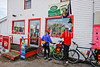 Cyclists at Devyn's, just off Vermont's Missisquoi Valley Rail Trail - 2 -0276 - 72 ppi